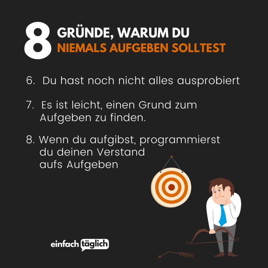 21 Gründe, warum du niemals aufgeben solltest   einfachtäglich.de