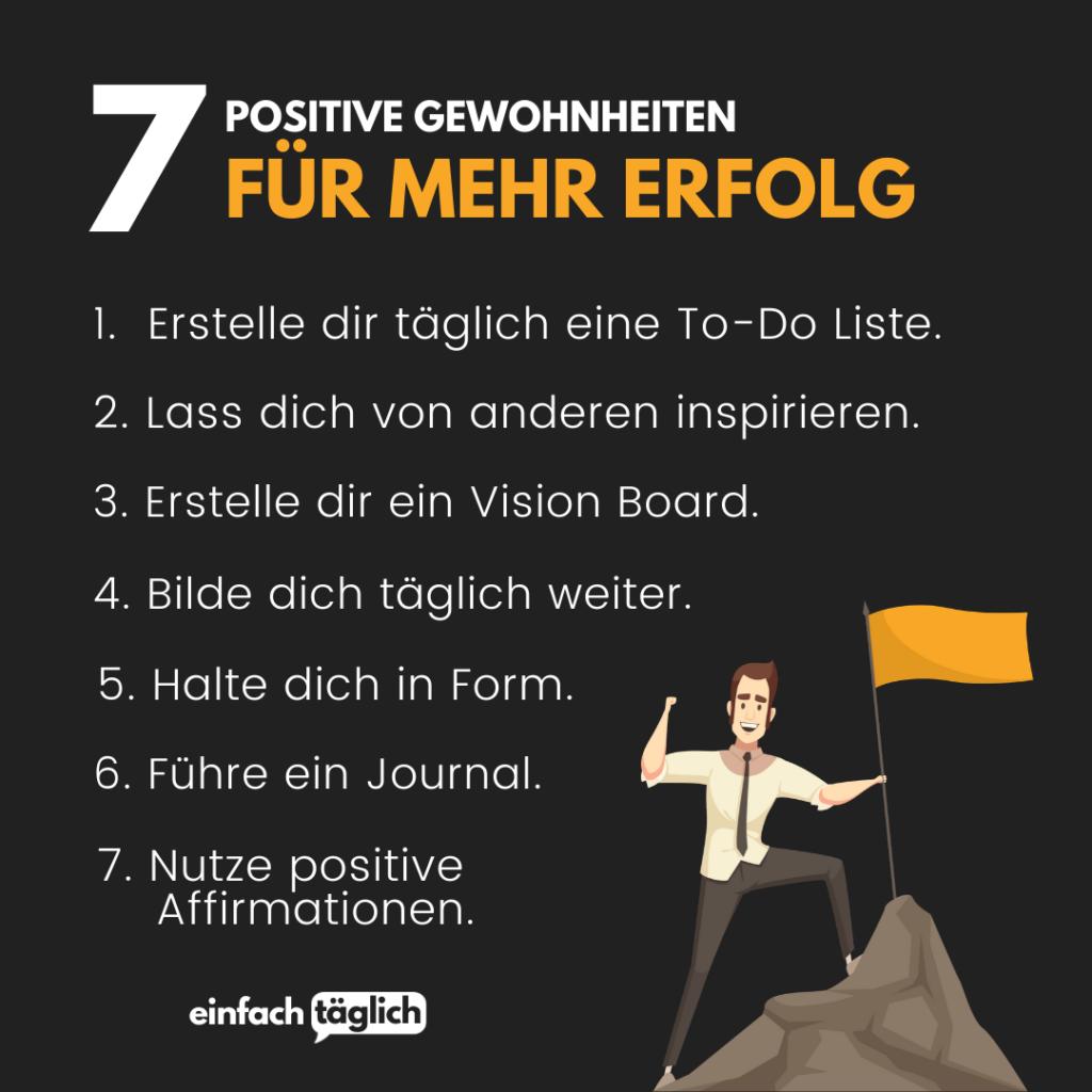 7 positive Gewohnheiten, für mehr Erfolg