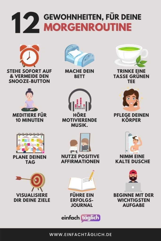 12 Gewohnheiten für deine Morgenroutine
