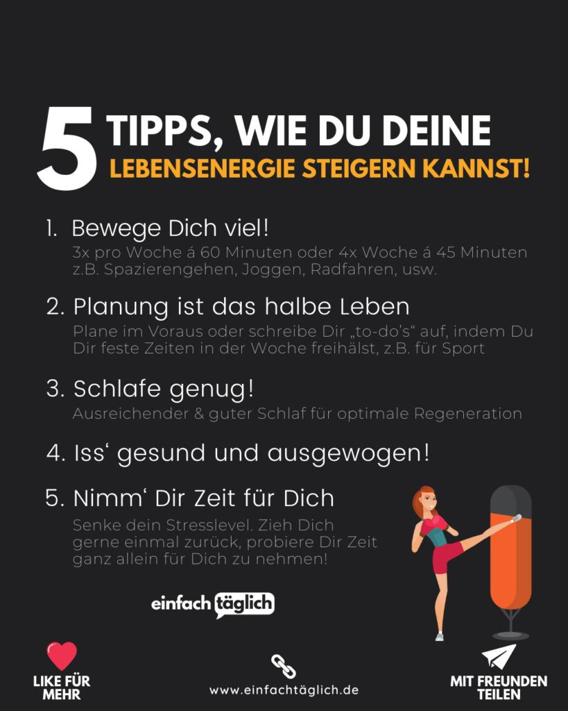 5 Tipps, um Deine Lebensqualität zu steigern