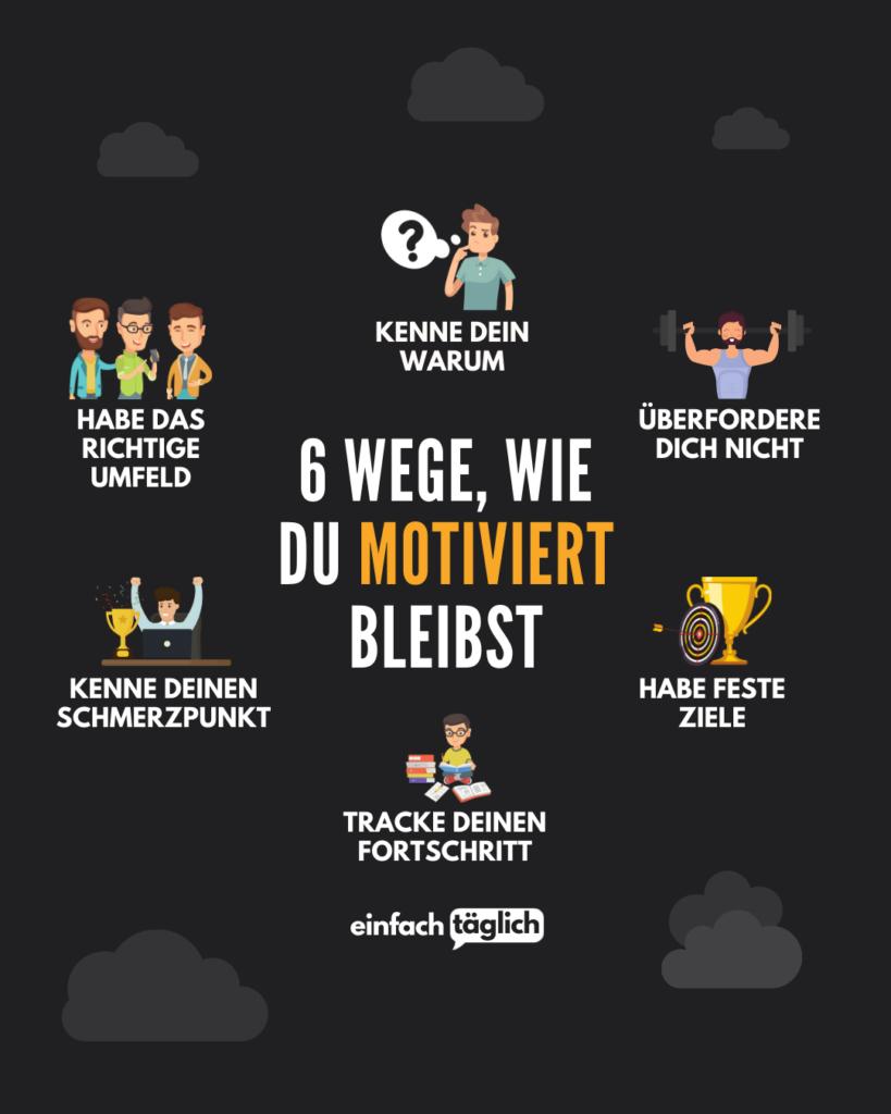 6 Wege, wie du immer motiviert bleibst