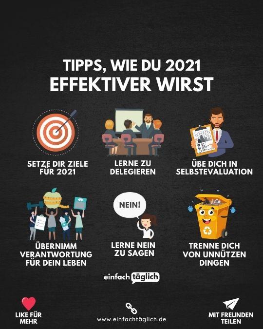 Tipps, wie du 2021 effektiver wirst